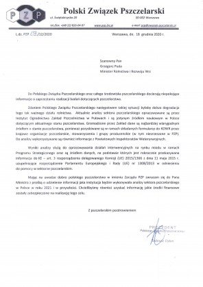 Pismo do MRiRW